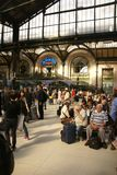 Passengers arrive at the Gare de Lyon Royalty Free Stock Image