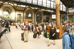 Passengers arrive  Gare de Lyon Royalty Free Stock Photo