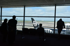 Passengers at Auckland International Airport Royalty Free Stock Photos