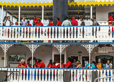 Passengers on board the Paddlewheeler Creole Queen in New Orleans Stock Image
