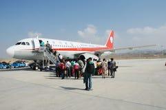 Passengers boarding Royalty Free Stock Photos