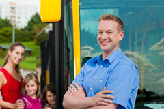 Passengers boarding a bus Royalty Free Stock Image