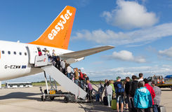 Passengers Boarding an Easyjet Plane Stock Images