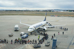 Passengers Boarding Ryanair Stock Photo