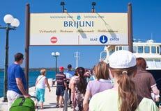 Passengers boarding the ship. Croatia Stock Photos