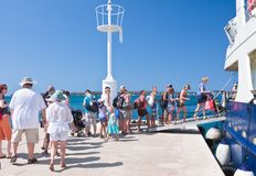 Passengers boarding the ship. Croatia Royalty Free Stock Images