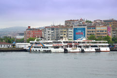 Passengers boats docked,Istanbul Royalty Free Stock Images
