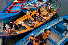 Passengers on the boats Royalty Free Stock Photo