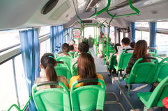 Passengers in the bus Stock Photography