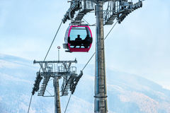 Passengers in cable car Royalty Free Stock Image