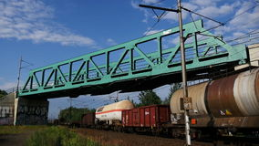 Passengers and Cargo Trains stock footage