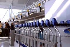 Passengers carts airport Stock Photos