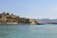 Passengers cruise ship in Portoferraio harbour Royalty Free Stock Photography