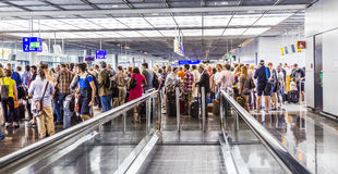 Passengers at the departure hall Royalty Free Stock Images