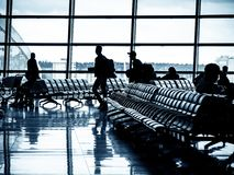 Departure lounge of an airport stock image