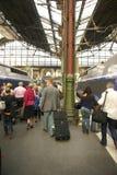Passengers disembark the TGV Royalty Free Stock Image