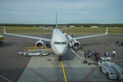 Passengers disembarking Stock Photography