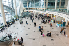 Passengers in Domodedovo airport at day time Royalty Free Stock Photos