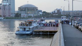 Passengers entrance to the touristic boat stock video