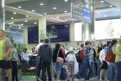 Passengers are expected to pick up at the airport Stock Photography