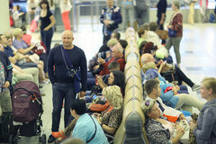 passengers are expected to pick up at the airport Stock Image