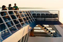 Passengers on a ferry-boat Stock Photography