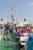 Passengers on the ferry to Borkum, Germany Stock Images