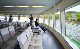 Passengers in a ferry and visit Lake Towada Stock Photo