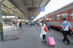 Passengers flow Stock Image