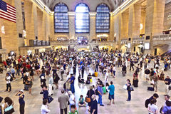 Passengers in Grand Central Stock Image