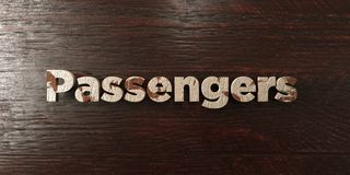 Passengers - grungy wooden headline on Maple  - 3D rendered royalty free stock image Royalty Free Stock Image