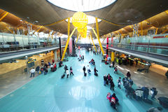 Passengers In Madrid Barajas Airport Royalty Free Stock Photo