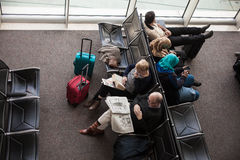 Passengers In The Airport Waiting Room Stock Image
