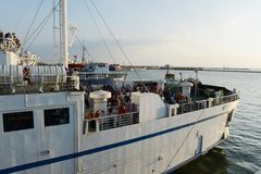 Passengers on the Kerch ferry Stock Photography