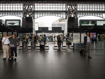 Passengers at Kyoto Train station. Kyoto -June 27, 2014: Passengers in JR kyoto Station, It is a major railway station operated by West Japan Railway Company Stock Image