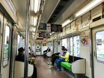 passengers in Kyoto train to Uji ciry Royalty Free Stock Images