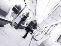 Passengers leaving the subway train Stock Photography