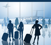 Passengers with luggage Royalty Free Stock Image