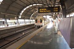 Passengers in metro station stock image