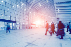 Passengers motion blur Royalty Free Stock Photography