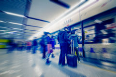 Passengers motion blur Royalty Free Stock Photos