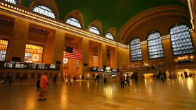Passengers move through Grand central Station in New York City. Passengers move through Grand central Station in Manhattan stock video footage