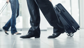 Passengers moving with luggage Royalty Free Stock Photos