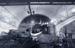 Passengers plane Stock Images