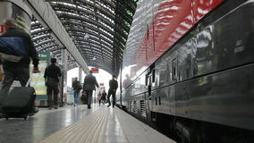 Train station in Milan, Italy stock video