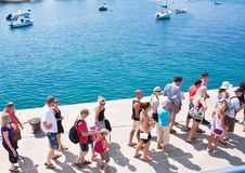 Passengers prior to boarding the ship. Croatia Stock Photography