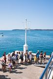 Passengers prior to boarding the ship. Croatia Royalty Free Stock Photos