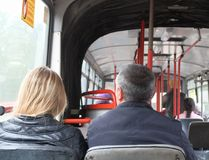 Passengers in public transport Stock Image