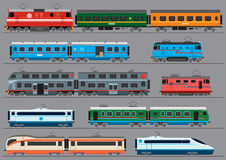 Passengers rail road transport Stock Photo