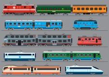 Passengers rail road transport Stock Photo
